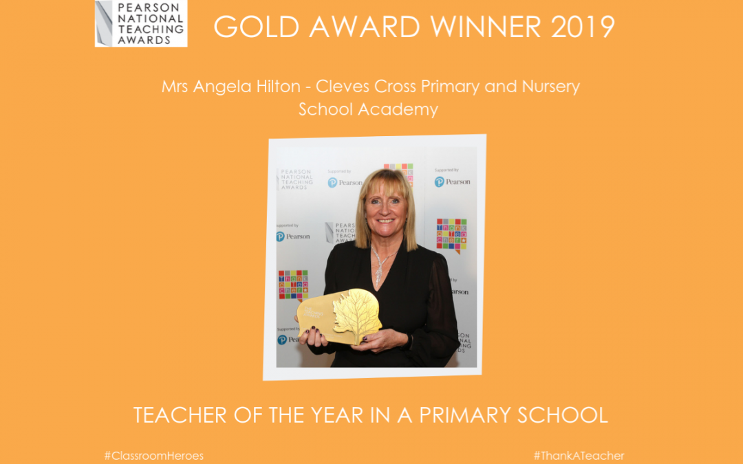 Mrs Angela Hilton – Teacher of the Year in a Primary School 2019 – Gold Award!